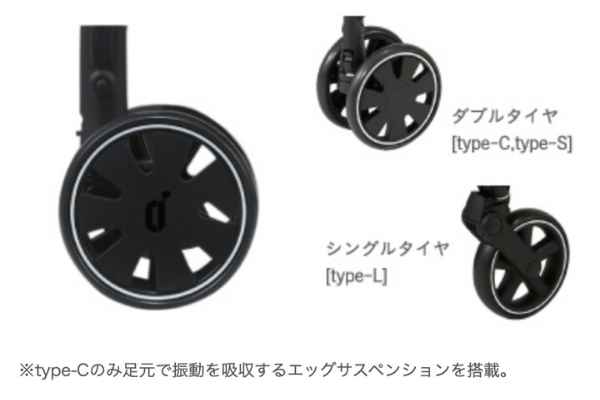 コンビAtto type-c 18cm ダブルタイヤ